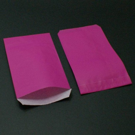 Boîte de 250 sachets cadeaux kraft fuchsia - 6147
