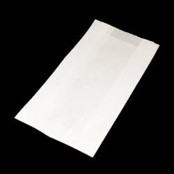 Lot de 100 sachets kraft blanc 35gr 18+6x31 - 6162