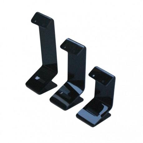 3 porte boucles d'oreilles en acrylique noir - 5095