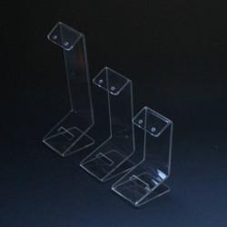 3 porte boucles d'oreilles en acrylique transparent - 5096