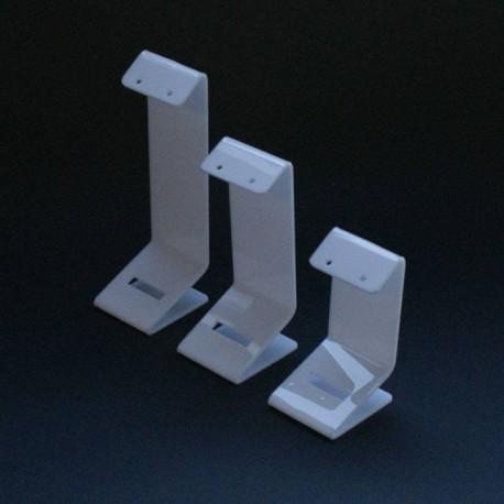 3 porte boucles d'oreilles en acrylique blanc - 5097