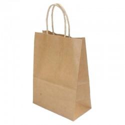 Lot de 12 sacs en papier kraft brun 25x33x12.5cm - 6184