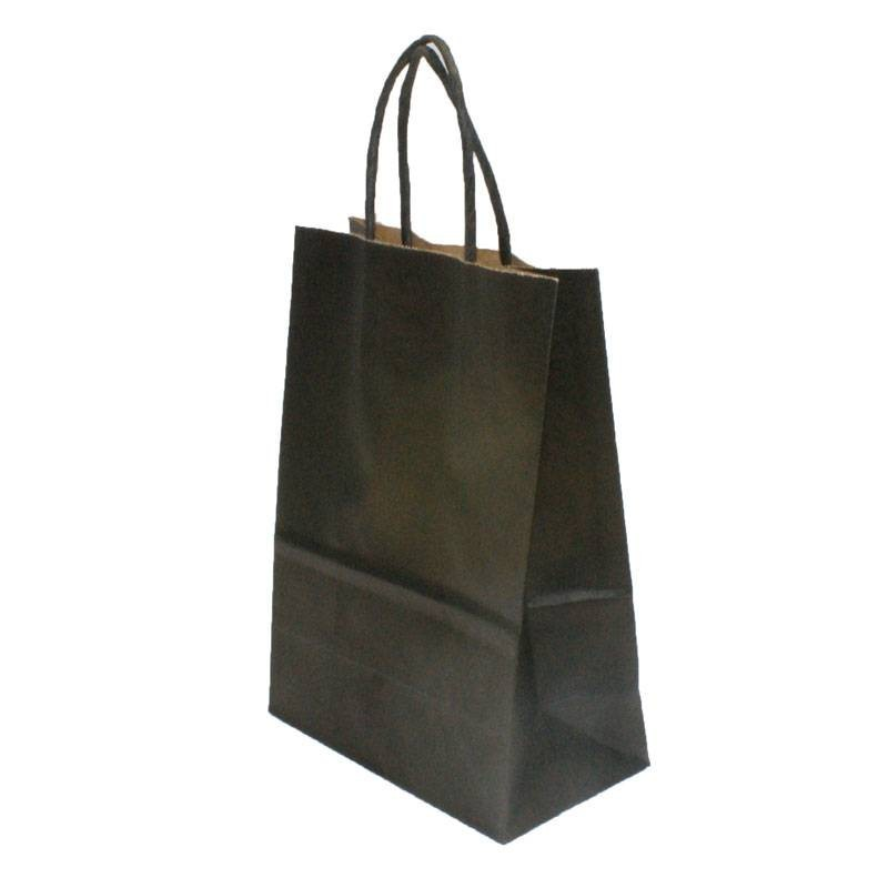 sac cadeaux kraft noir poche kraft noire unie poign es torsad es. Black Bedroom Furniture Sets. Home Design Ideas