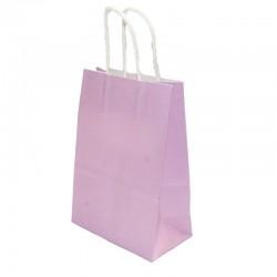 Lot de 12 sacs en papier kraft mauve 25x33x12.5cm - 6186