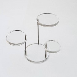 Support bijoux en acrylique transparent à 3 plateaux - 6222