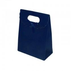 Lot de 12 boîtes cadeaux bleu foncé unies 27x19x9cm - 6240