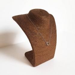 Buste en raphia de couleur marron chocolat 21.5cm - 6243