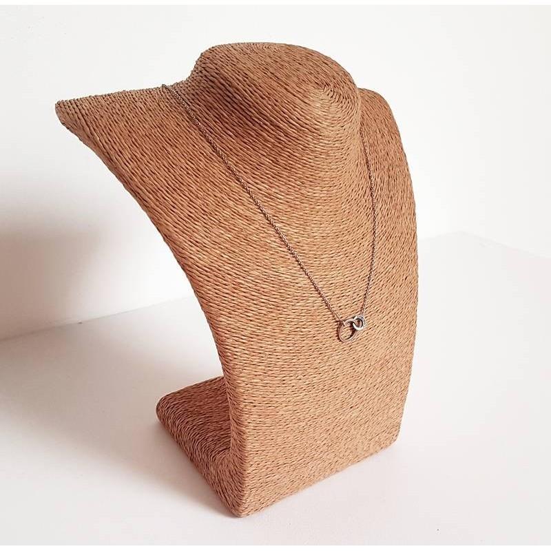 buste bijoux raphia marron clair pr sentoir colliers raphia marron. Black Bedroom Furniture Sets. Home Design Ideas