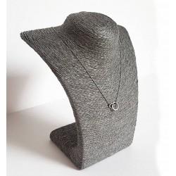 Buste en raphia de couleur gris 21.5cm - 6246