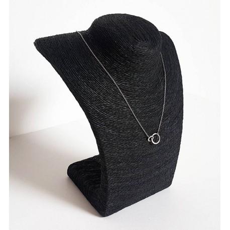 Buste en raphia de couleur noir 21.5cm - 6247