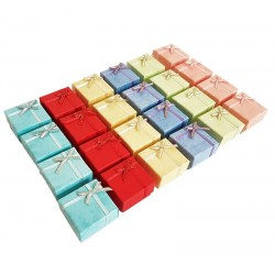 24 écrins pour bijoux bagues 6 couleurs - 3142