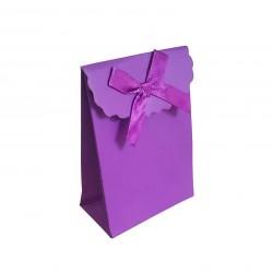 12 boîtes cadeaux pour bijoux de couleur violet 10.5x7.5x4cm - 6235