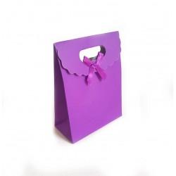 12 boîtes cadeaux de couleur violet uni 16x12.5x6cm - 6236