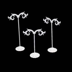 3 Arbres à bijoux en métal noir pour 4 paires de boucles d'oreilles - 6260