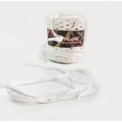 Bobine de raphia blanc synthétique 200m - 6263