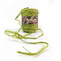 Bobine de raphia vert nature synthétique 200m - 6267