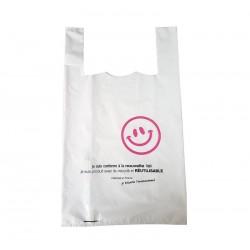 25 sacs bretelle plastique recyclé et réutilisables - 6268