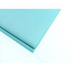20 feuilles de papier de soie bleu cyan - 0769