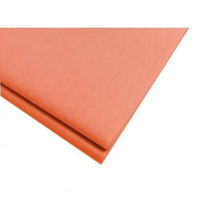 20 feuilles de papier de soie orange saumon - 5736