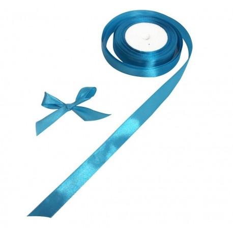 Bobine de ruban satiné en tissu de couleur bleu - 5729