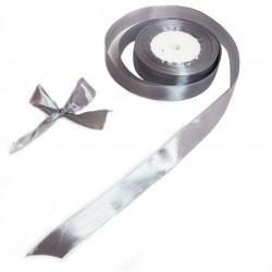 Bobine de ruban satiné en tissu de couleur argenté - 5727