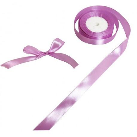 Bobine de ruban satiné en tissu de couleur violet - 5734