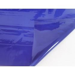 2 feuilles en cellophane couleur bleu nuit transparent - 5738