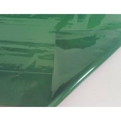 2 feuilles en cellophane couleur vert bouteille transparent - 5741