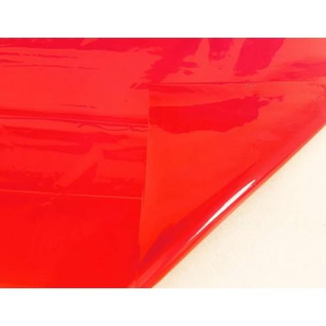 2 feuilles en cellophane couleur rouge transparent - 5842