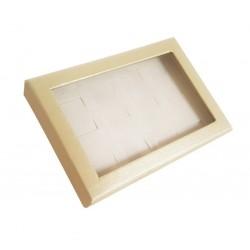 Présentoir 12 bagues blanc crème - 2244