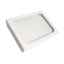 Baguier blanc en carton avec couvercle 12 bagues - 6043