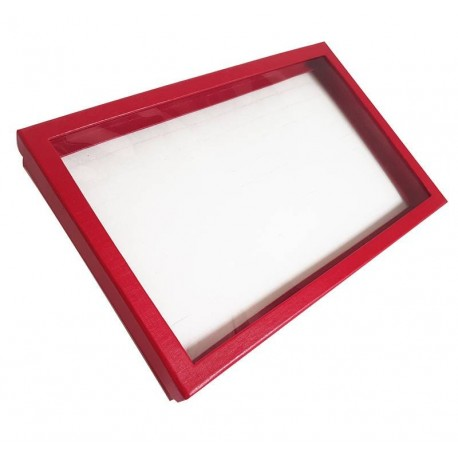 Baguier en carton rouge 100 bagues - 6045