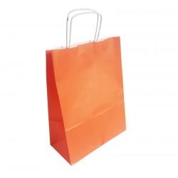 50 sacs en papier kraft orange sur fond blanc 24x11x31cm - 6294
