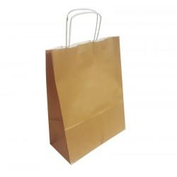 50 sacs en papier kraft brun naturel 24x11x31cm - 6288