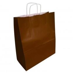 50 sacs en papier kraft couleur marron chocolat 35x16x40cm - 6300