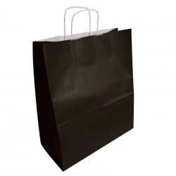 50 sacs en papier kraft couleur noir 35x16x40cm - 6301
