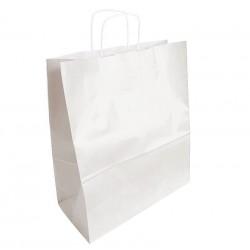 50 sacs en papier kraft couleur blanc 35x16x40cm - 6299