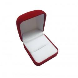 1 écrin en velours rouge pour bague ou pour boucles d'oreilles - 6031