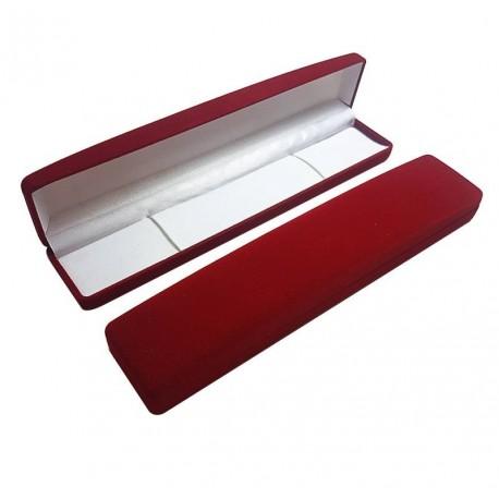 1 écrin en velours rouge pour bracelet ou chaîne - 6012