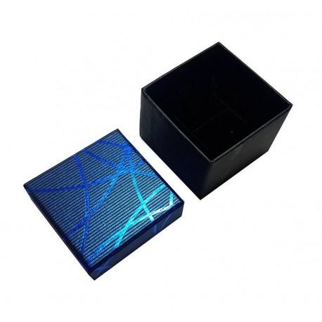 24 écrins bagues de couleur bleu - 6311
