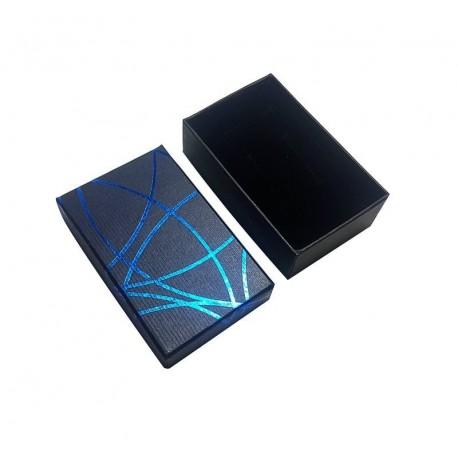 24 écrins parure de couleur bleu avec liseré - 63100