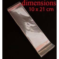 100 sachets adhésifs de conditionnement 19x10cm - 6330