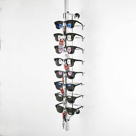 Présentoir à lunettes mural antivol 8 paires - 6334