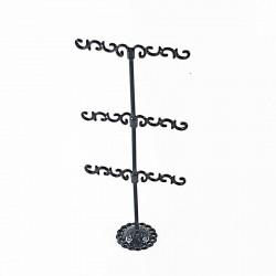 Présentoir bijoux métal noir - 3301