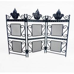 Porte bijoux paravent en métal noir - 6352