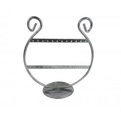 Porte bijoux pour boucles d'oreilles en métal argenté 13 paires - 5971