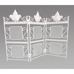 Porte bijoux paravent en métal blanc - 6743