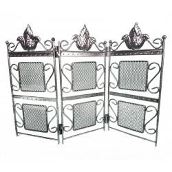 Porte bijoux paravent en métal vieilli argenté - 6350