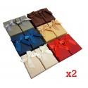 24 écrins parures 6 couleurs avec noeud ruban - 6361