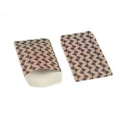 100 petits sachets cadeaux papier 10x6cm motifs scandinave rose et gris - 6364